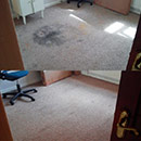 A very dirty carpet in Essex before & after we cleaned it